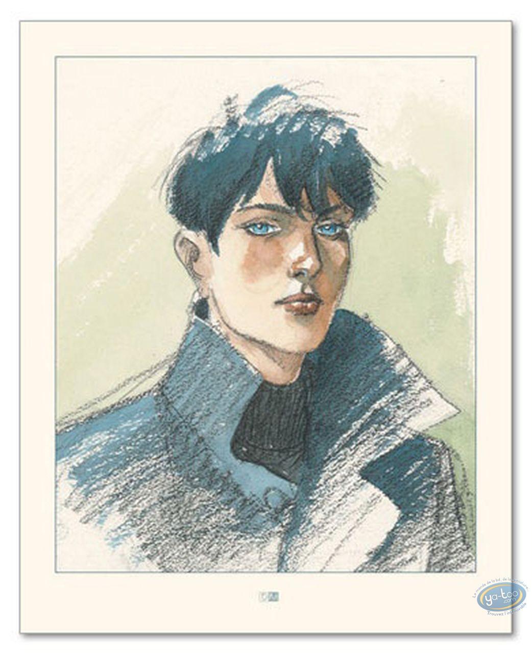 Offset Print, Cahier Bleu (Le) : Louise's Portrait (signed)