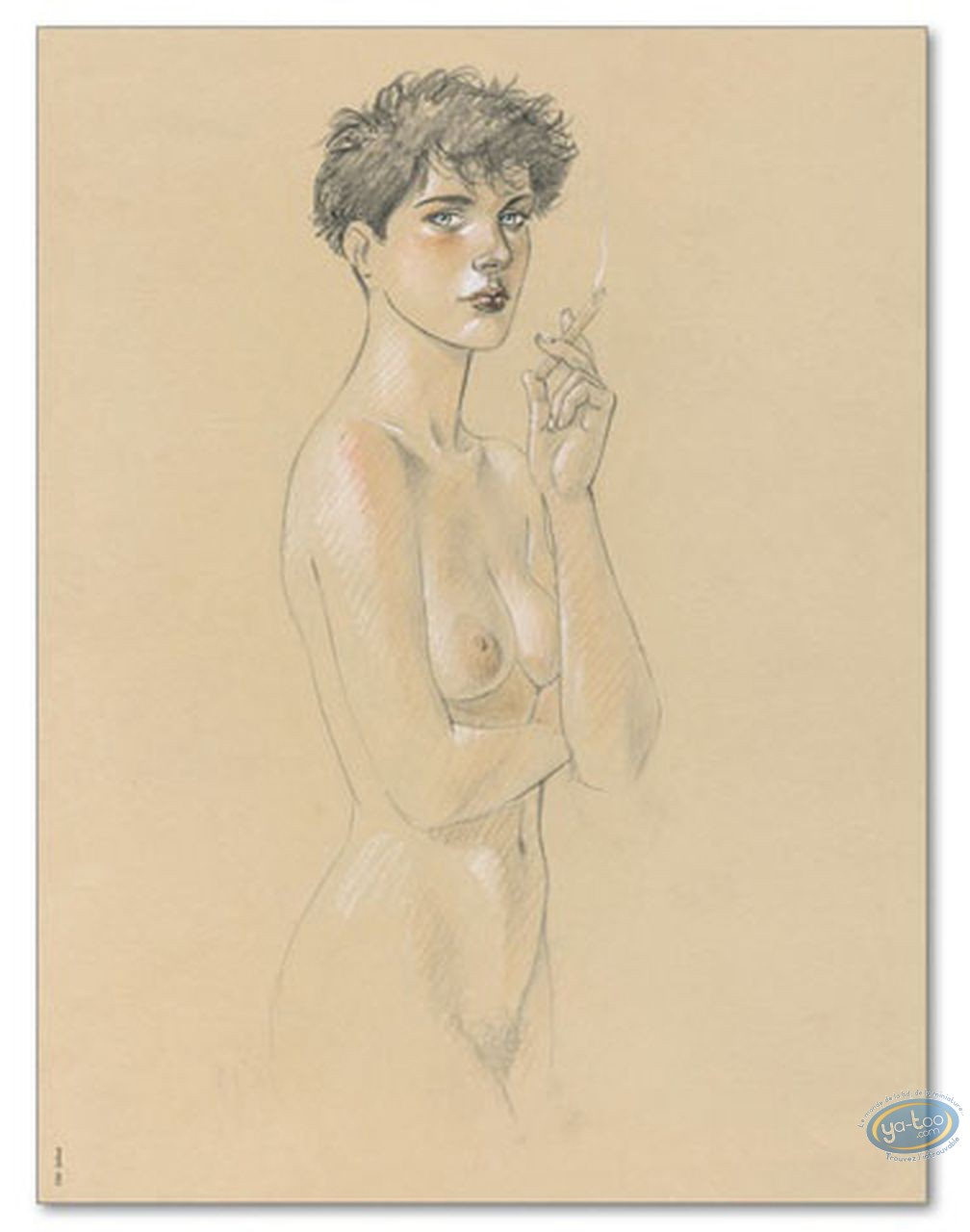 Offset Print, Cahier Bleu (Le) : Louise smoking