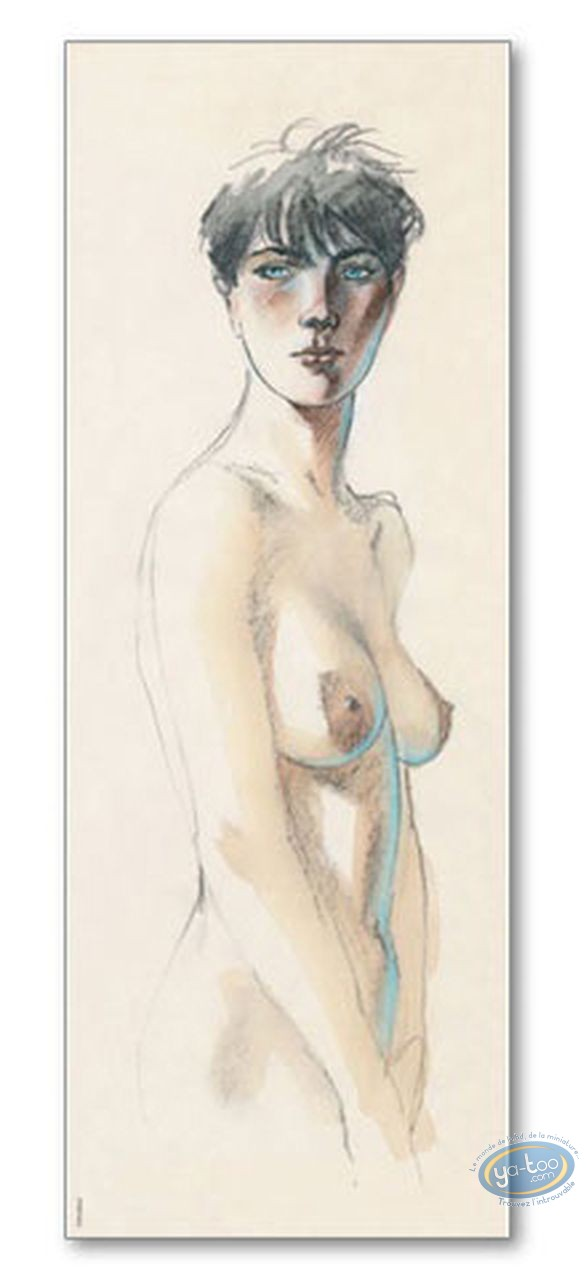 Offset Print, Cahier Bleu (Le) : Louise standing (signed)