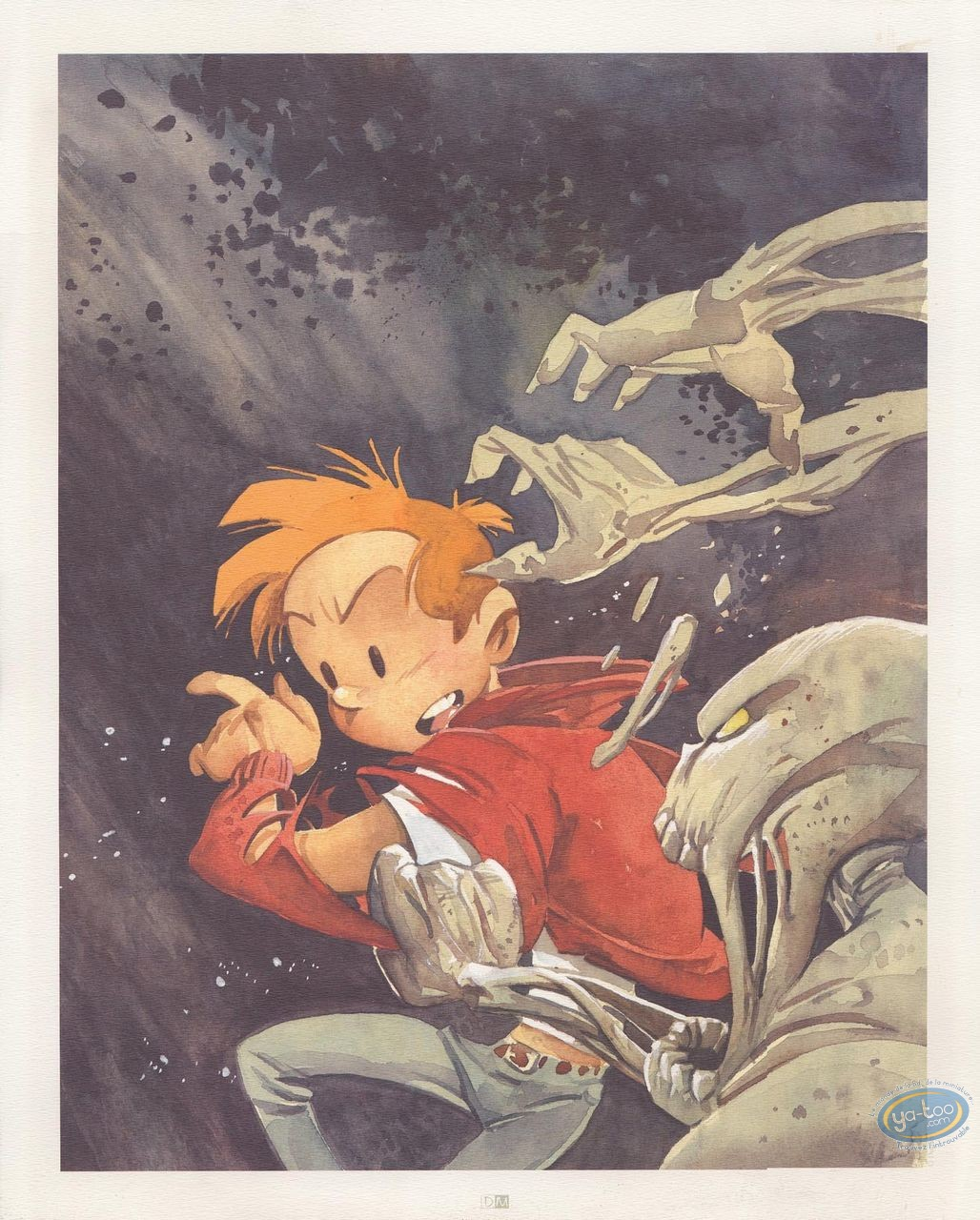 Offset Print, Spirou and Fantasio : The ManwWho didn't want to Die (signed)