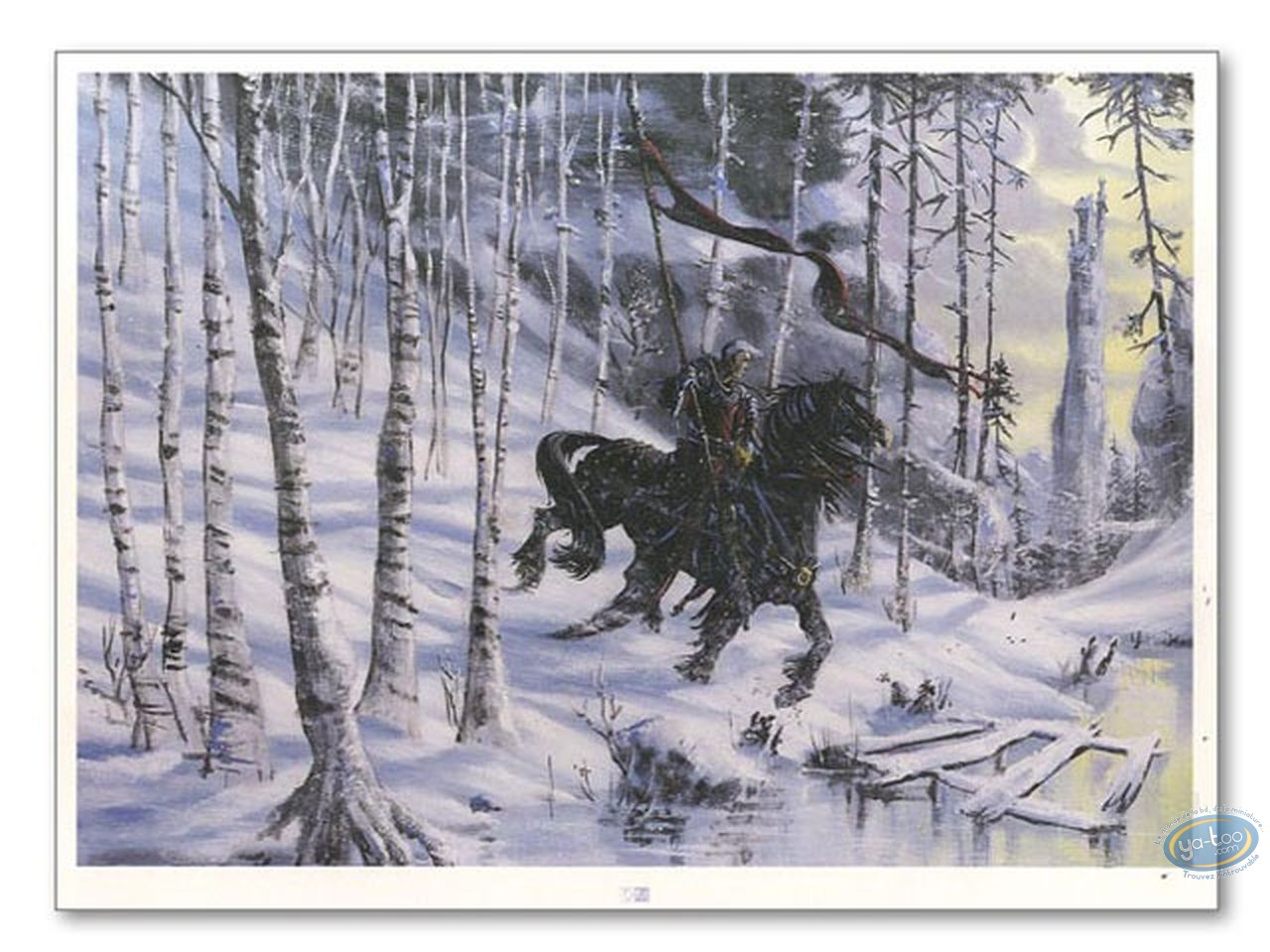 Offset Print, Gorn : Gorn riding a horse