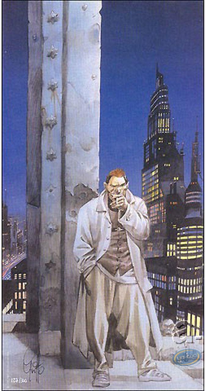 Bookplate Offset, Samba Bugatti : Man Smoking