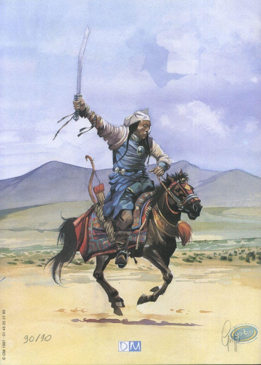 Bookplate Offset, Gengis Khan : On Horse
