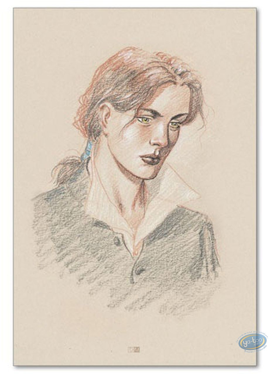 Offset Print, Plume aux Vents : Ariane de Troïl portrait (signed)