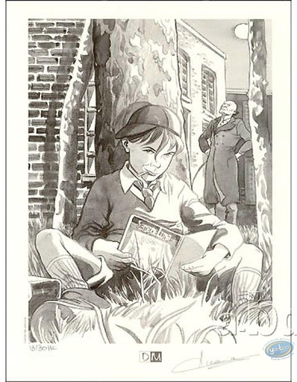Bookplate Offset, Sang de Lune : Boy Reading