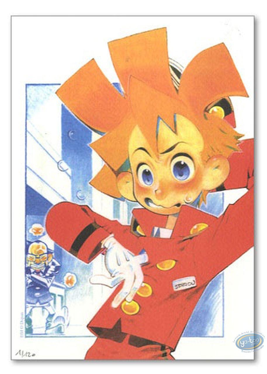 Bookplate Offset, Spirou and Fantasio : Spirou manga