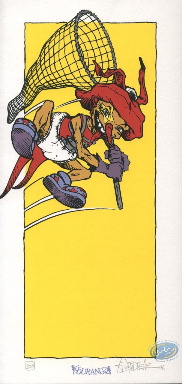 Bookplate Serigraph, Mangecoeur : Jump