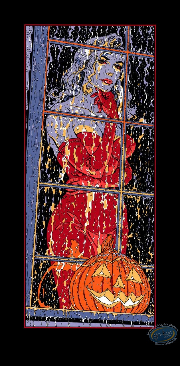 Serigraph Print, Halloween Blues : Halloween Blues Dana Anderson