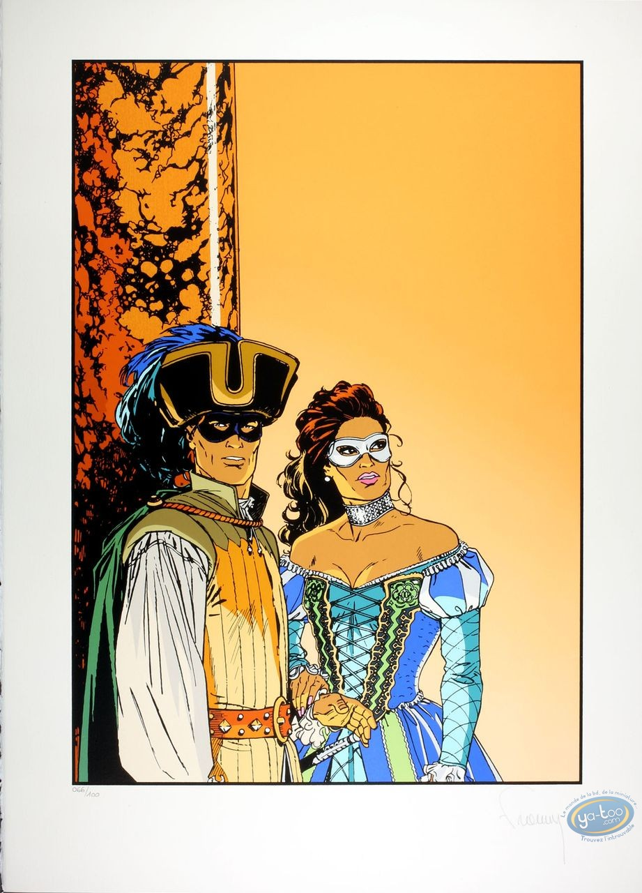 Serigraph Print, Largo Winch : And Die (without text)