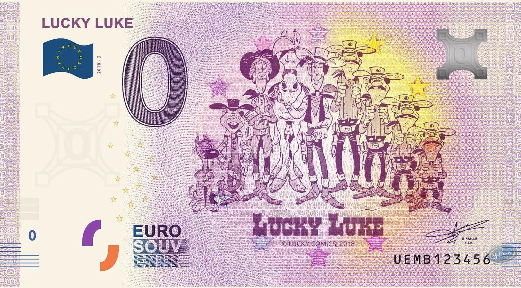 Coin, Lucky Luke : Banknote Euro Souvenir 03