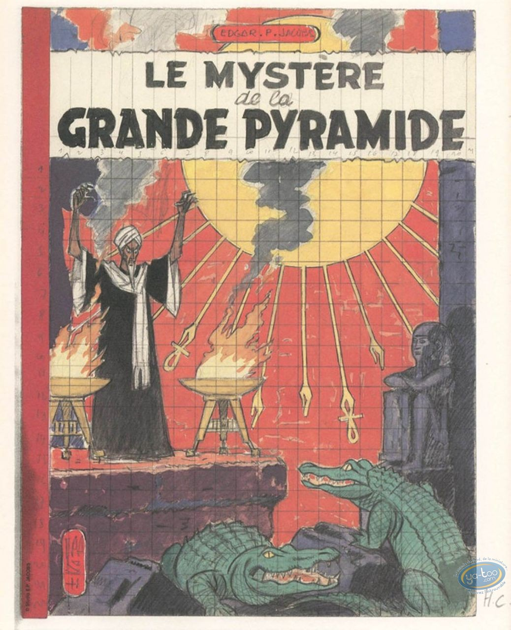 Offset Print, Blake and Mortimer : The Great Pyramid Mystery