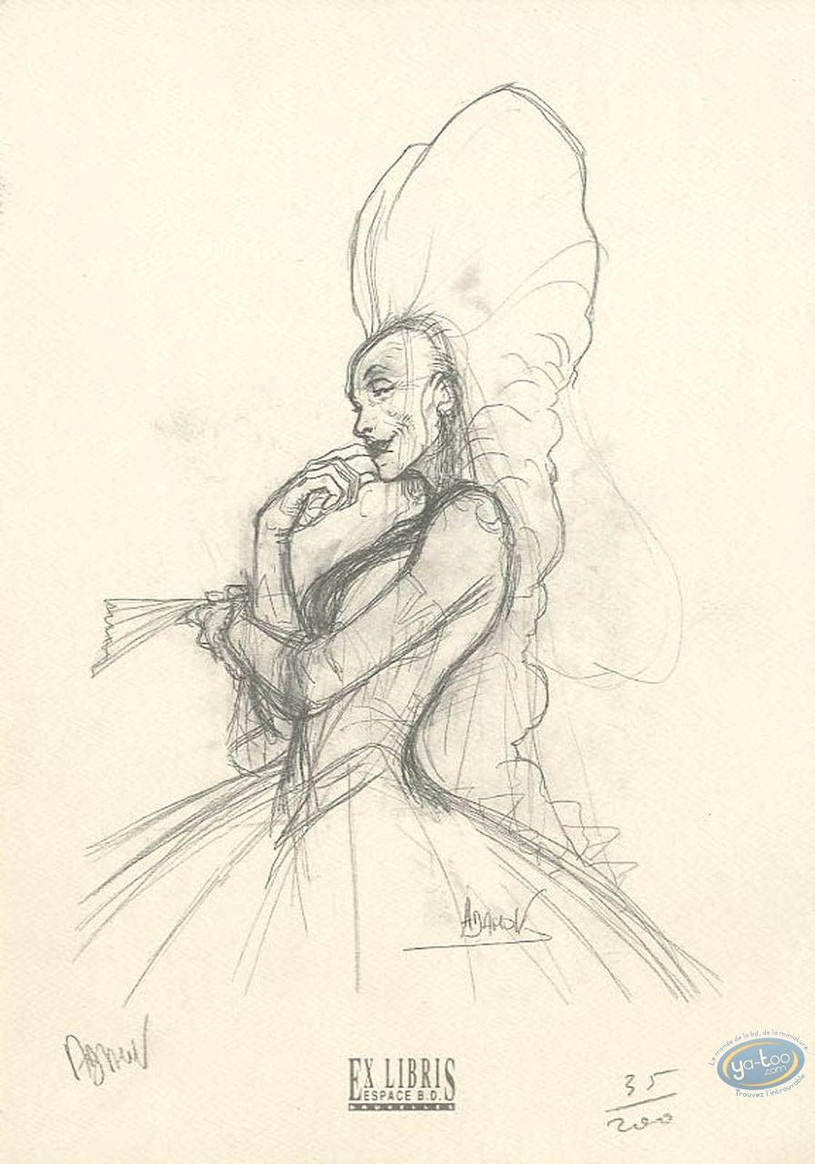 Bookplate Offset, Eaux de Mortelune (Les) : Sketch