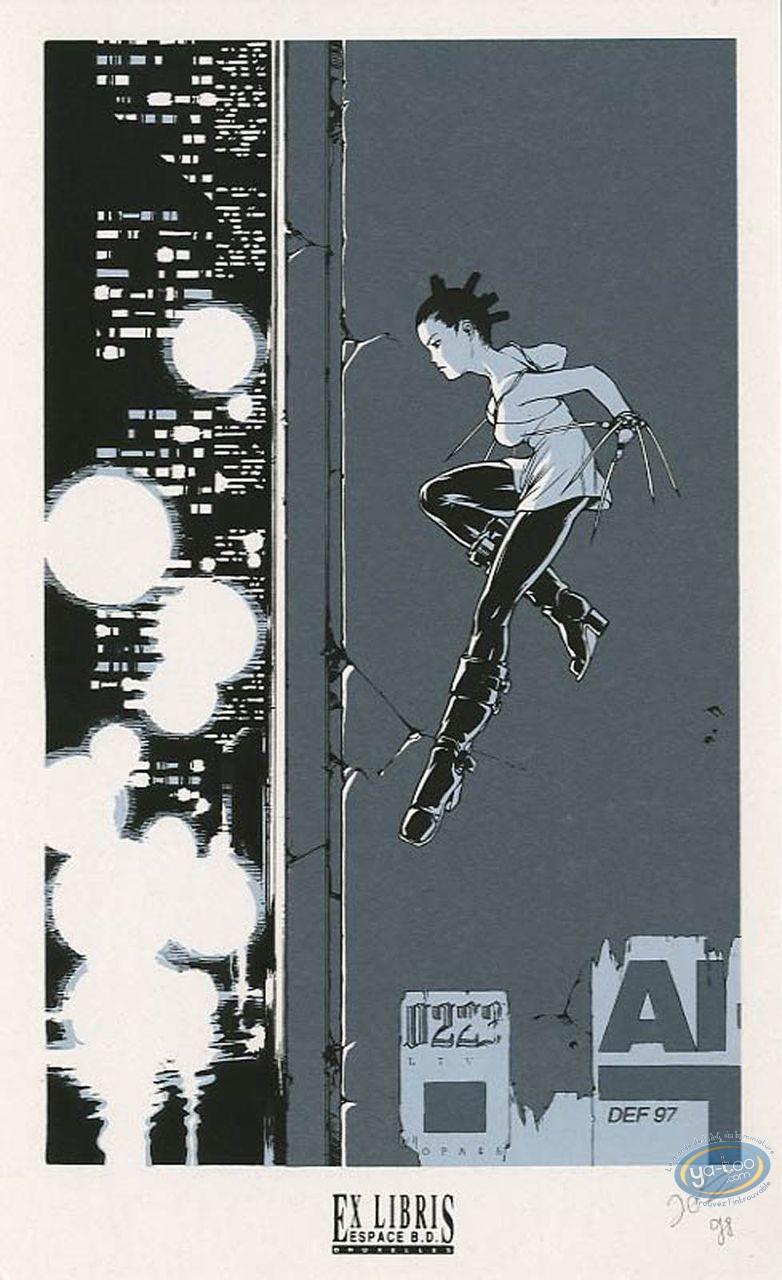 Bookplate Serigraph, Zentak : Jump