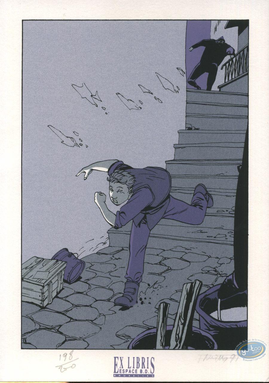 Bookplate Serigraph, Fond du Monde (Le) : Running