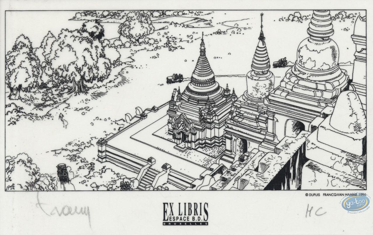 Bookplate Serigraph, Largo Winch : Temple (tracing paper)