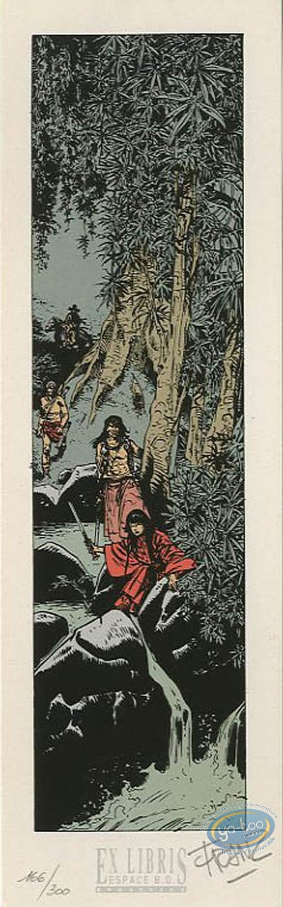 Bookplate Serigraph, Poupée d'Ivoire : The Forest