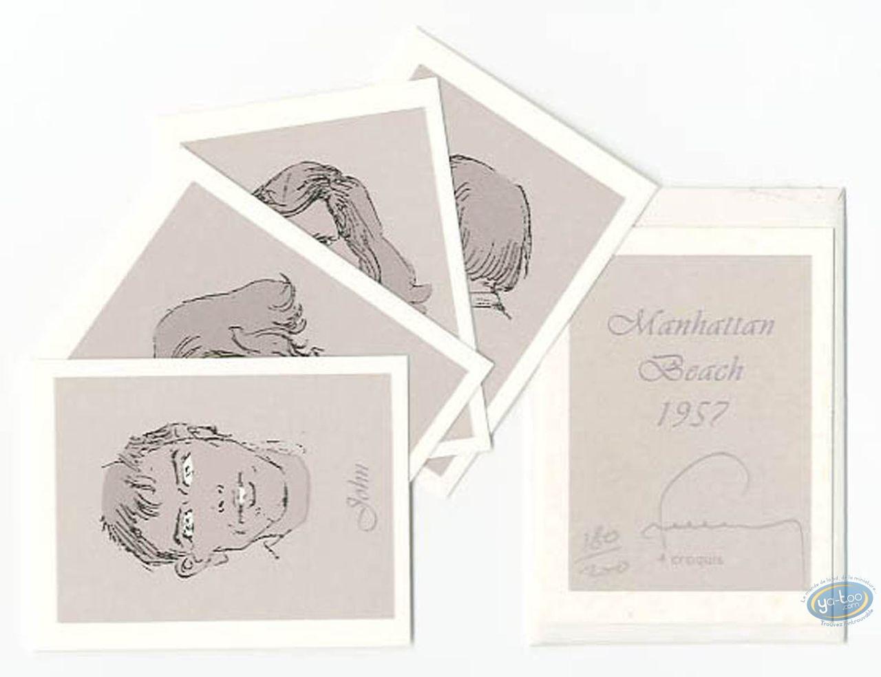 Bookplate Serigraph, Manhattan Beach 1957 : Galery of Porraits