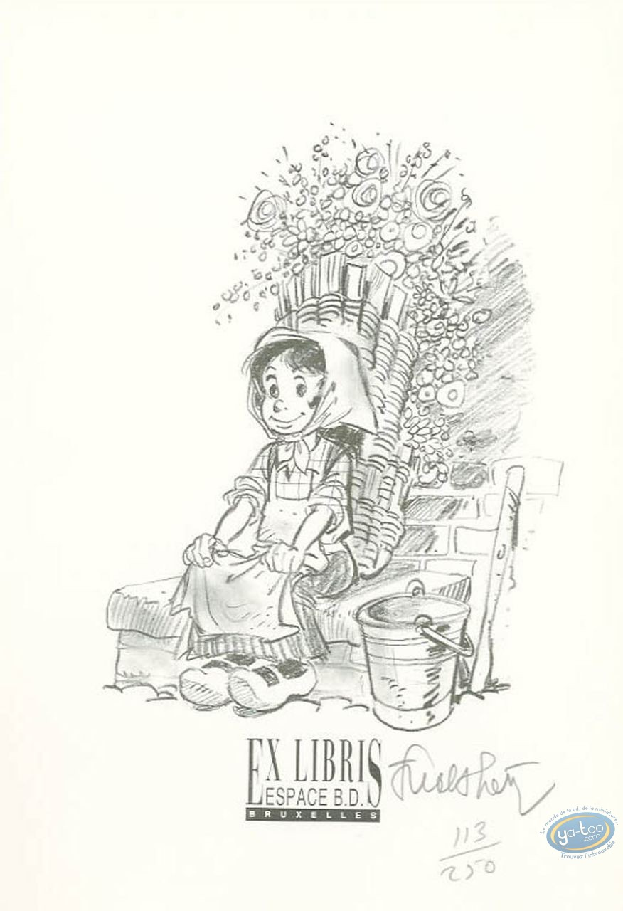 Bookplate Offset, Tchantchès : Little Girl