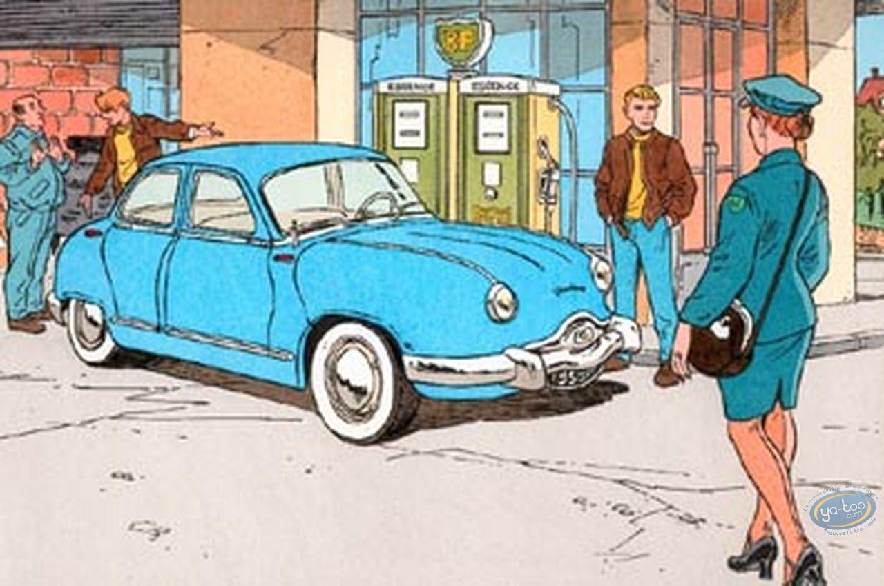 Aquarelle, Valhardi : Dyna Panhard 54 (blue)