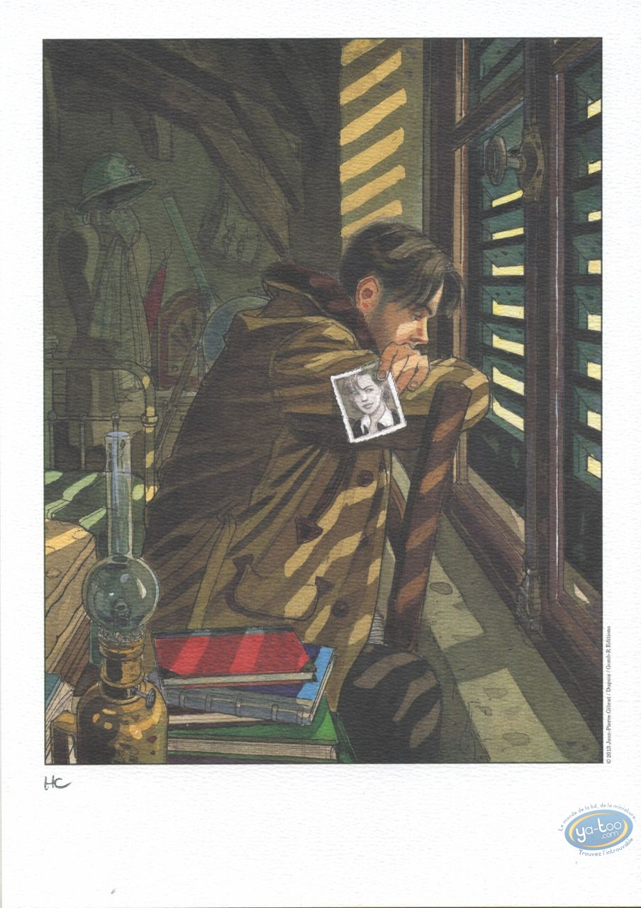 Bookplate Offset, Sursis (Le) : Francois at the window