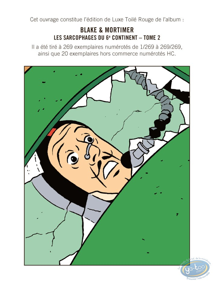 Deluxe Edition, Blake and Mortimer : Les Sarcophages du 6e continent - Tome 2