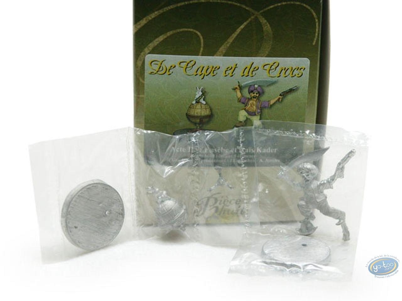 Metal Figurine, Cape et de Crocs (De) : Eusebe & Rais Kader (unpainted)