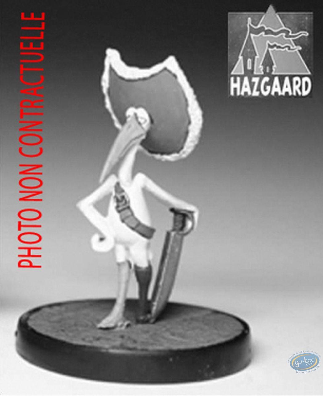 Metal Figurine, Cape et de Crocs (De) : Cigognac (unpainted)