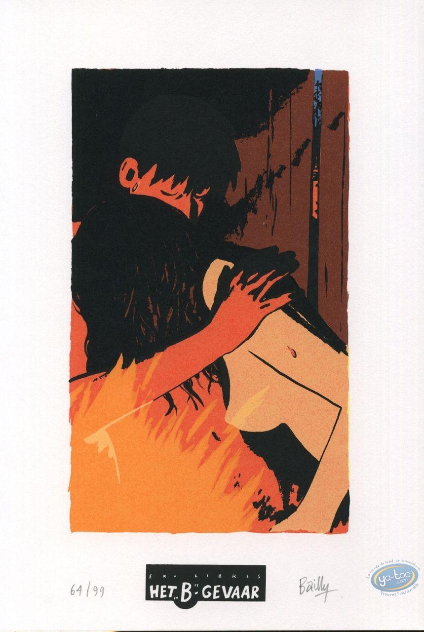 Bookplate Serigraph, Saison des Anguilles (La) : Couple