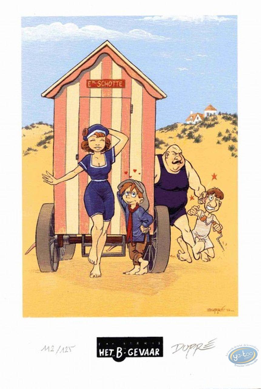 Bookplate Offset, Sarah et Robin : The Beach