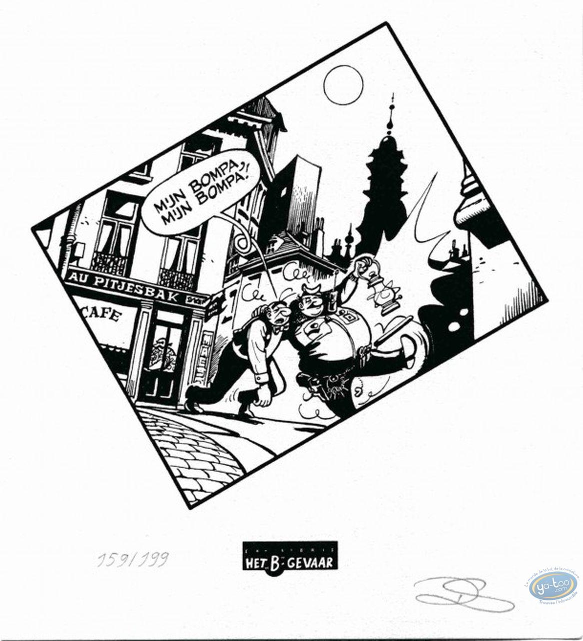 Bookplate Serigraph, Néron : Drunk