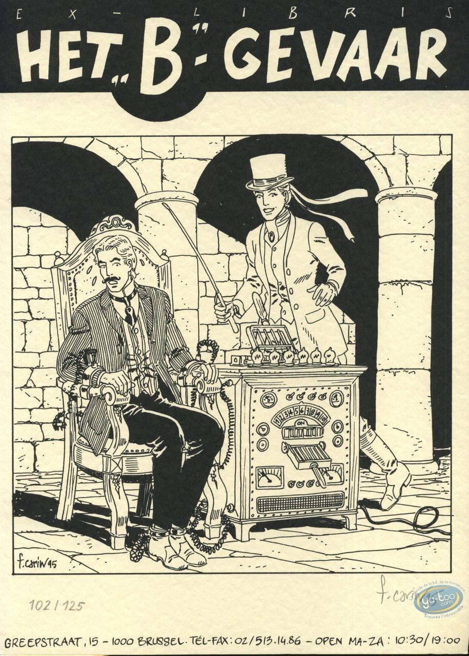 Bookplate Serigraph, Victor Sackville : Danger