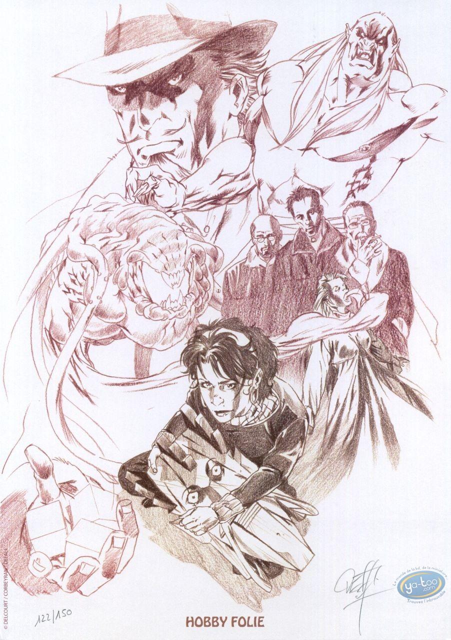 Bookplate Offset, Asphodèle : Characters studies