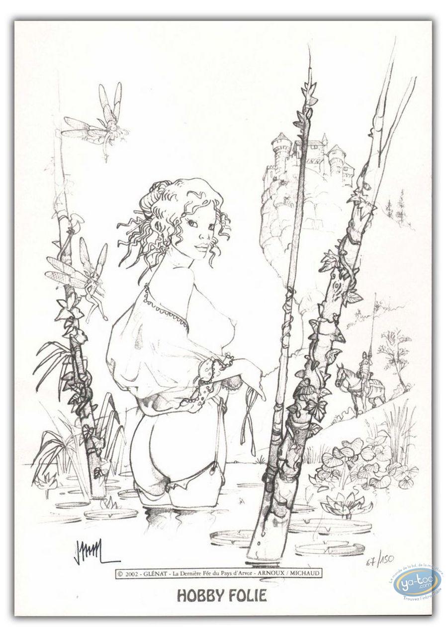 Bookplate Offset, Dernière Fée du Pays d'Arvor (La) : Naked woman in a river