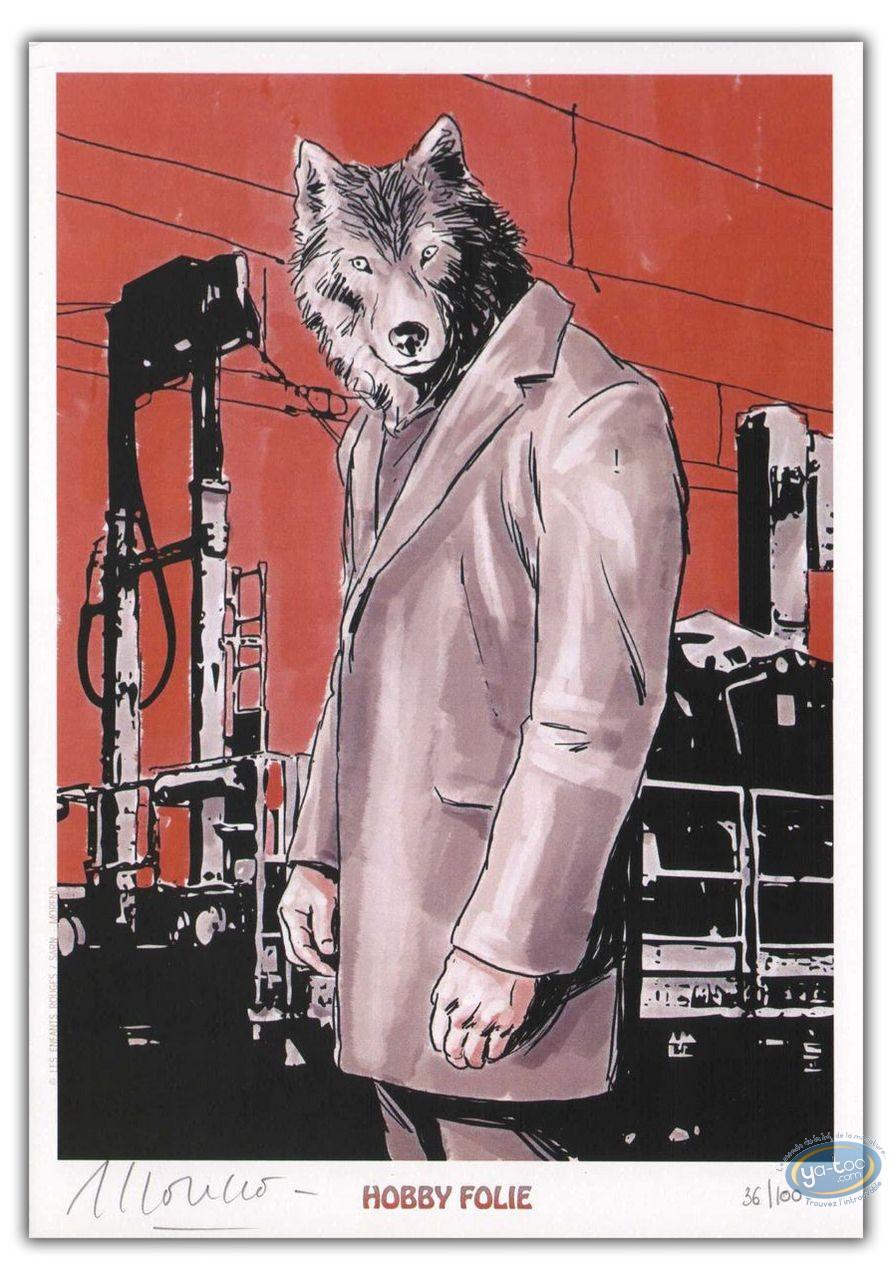 Bookplate Offset, Wolf