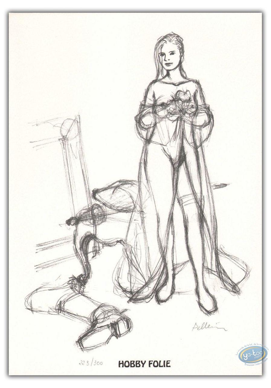 Bookplate Offset, Epervier (L') : Marion undressed (sketch)