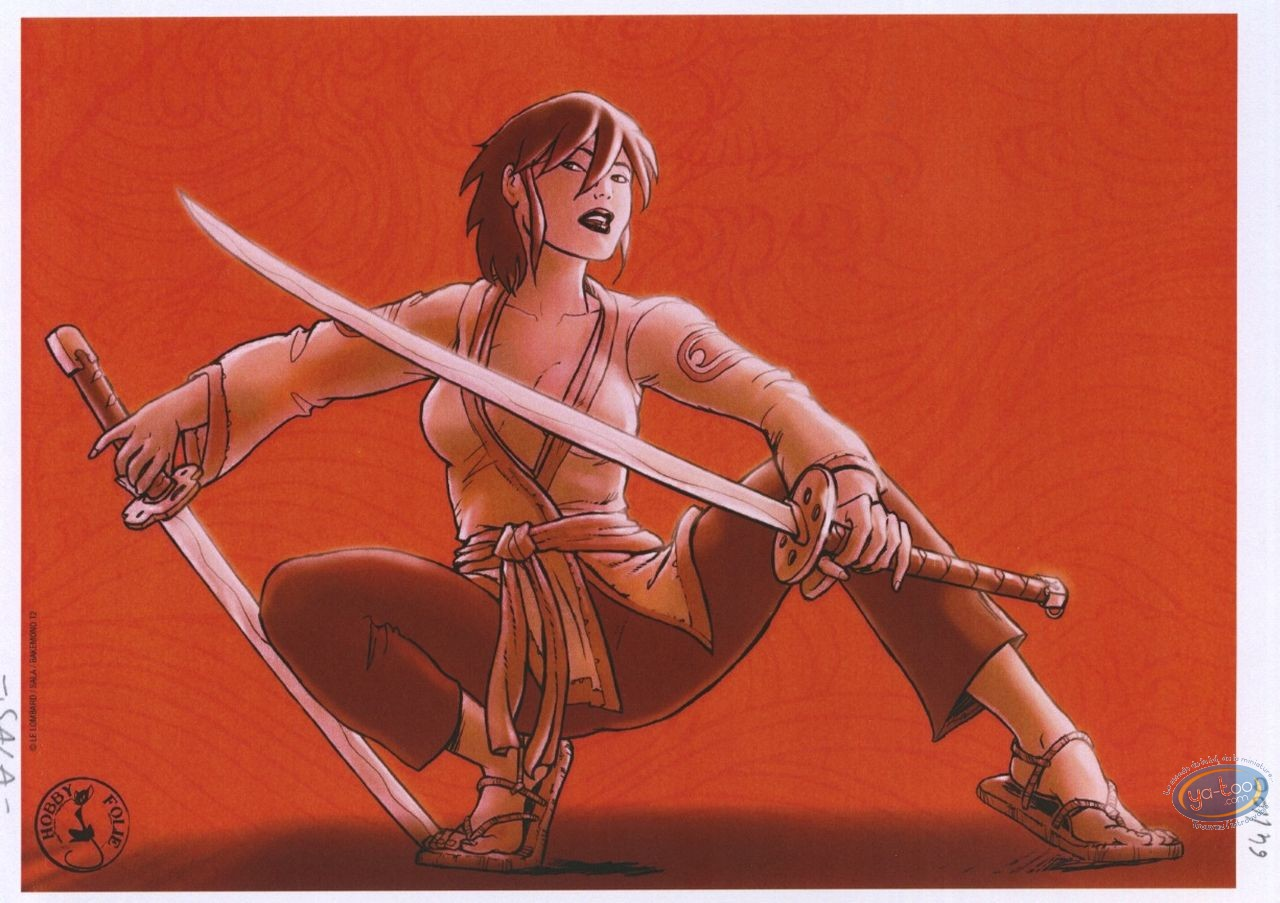 Bookplate Offset, Bakemono : Woman with katanas