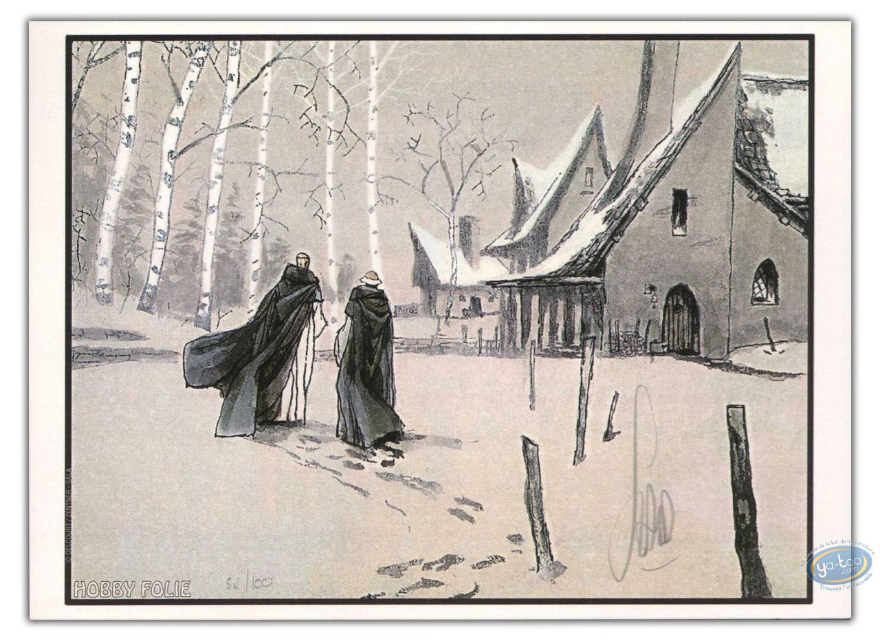 Bookplate Offset, Nicolas Eymerich : Walking on the snow