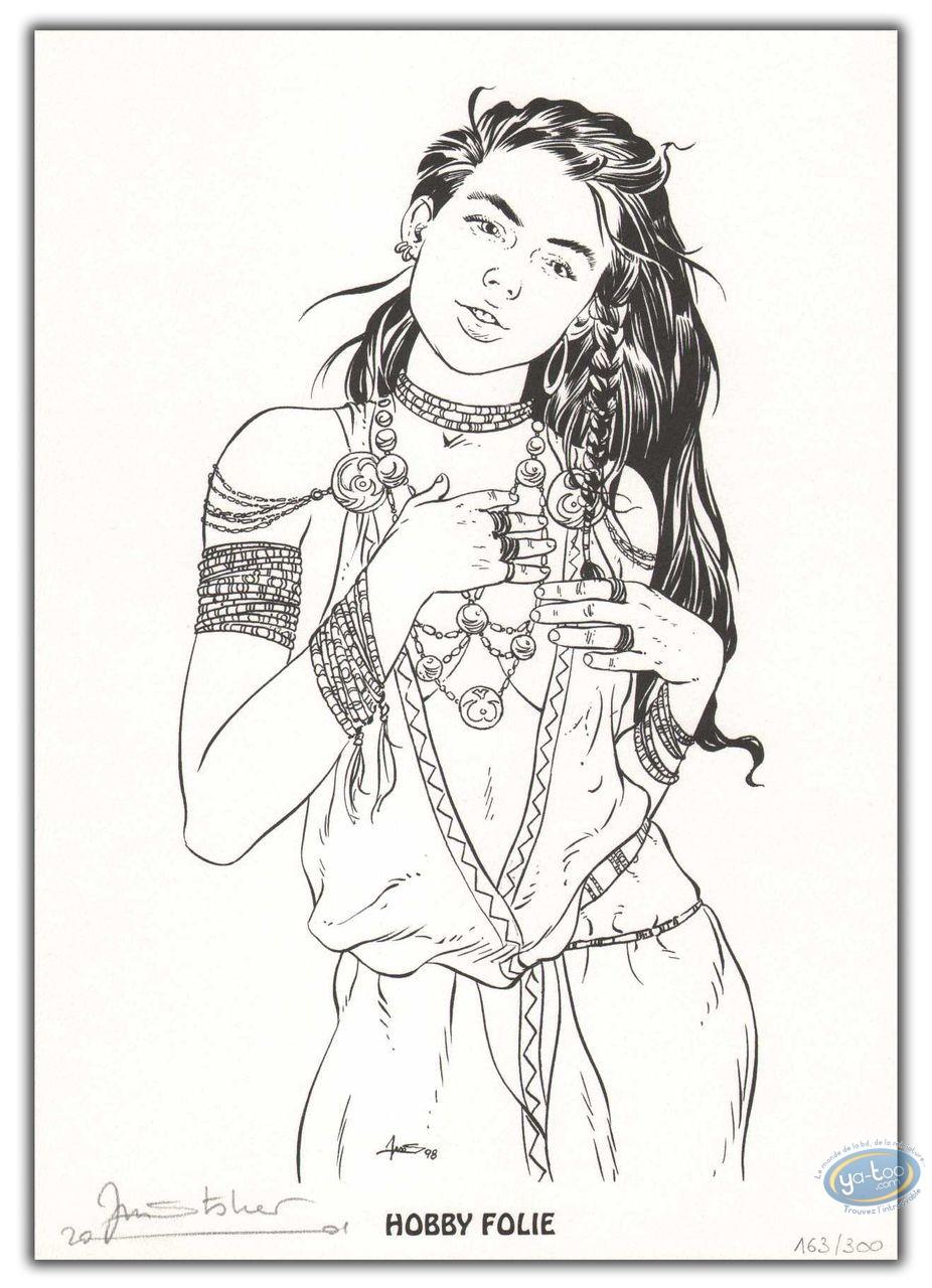 Bookplate Offset, Cercle de Minsk (Le) : Woman with jewels
