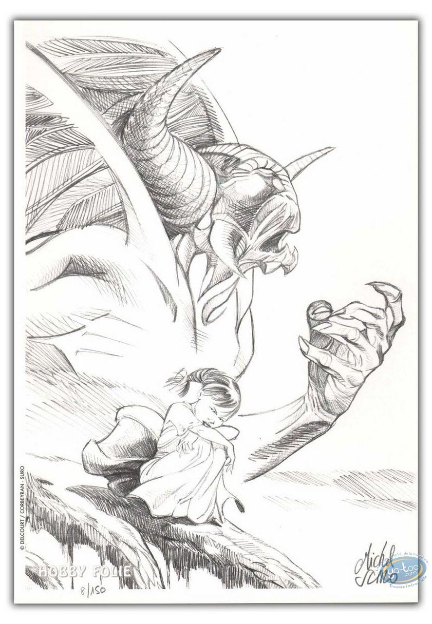 Bookplate Offset, Clan des Chimères (Le) : Little girl & Stryge