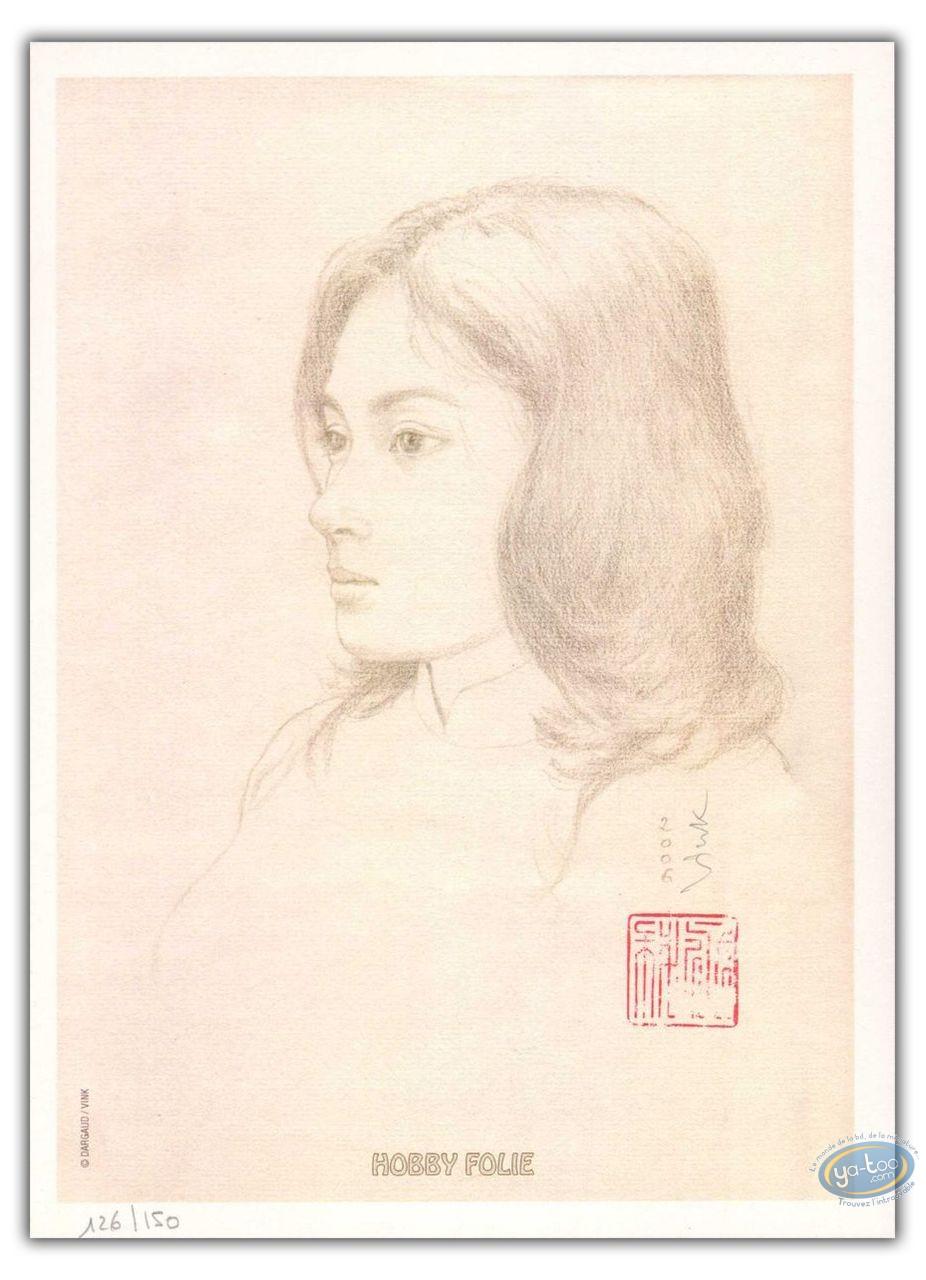 Bookplate Offset, Moine Fou (Le) : Les Voyages de He Pao - Portrait