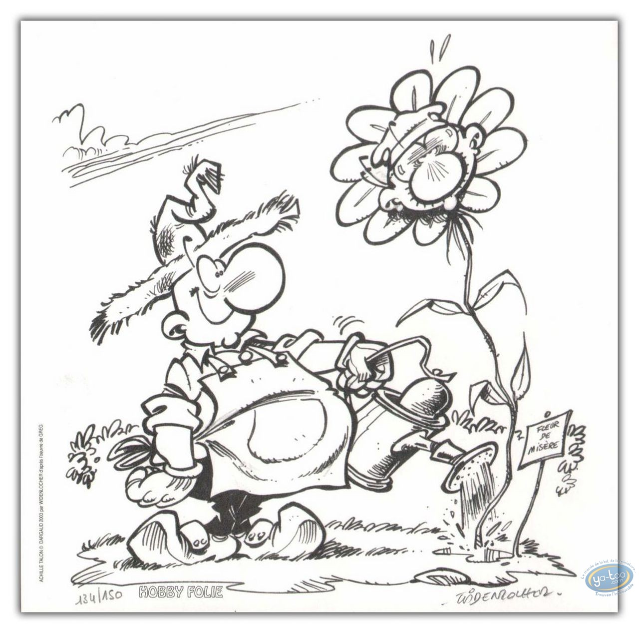 Bookplate Offset, Achille Talon : Special flower