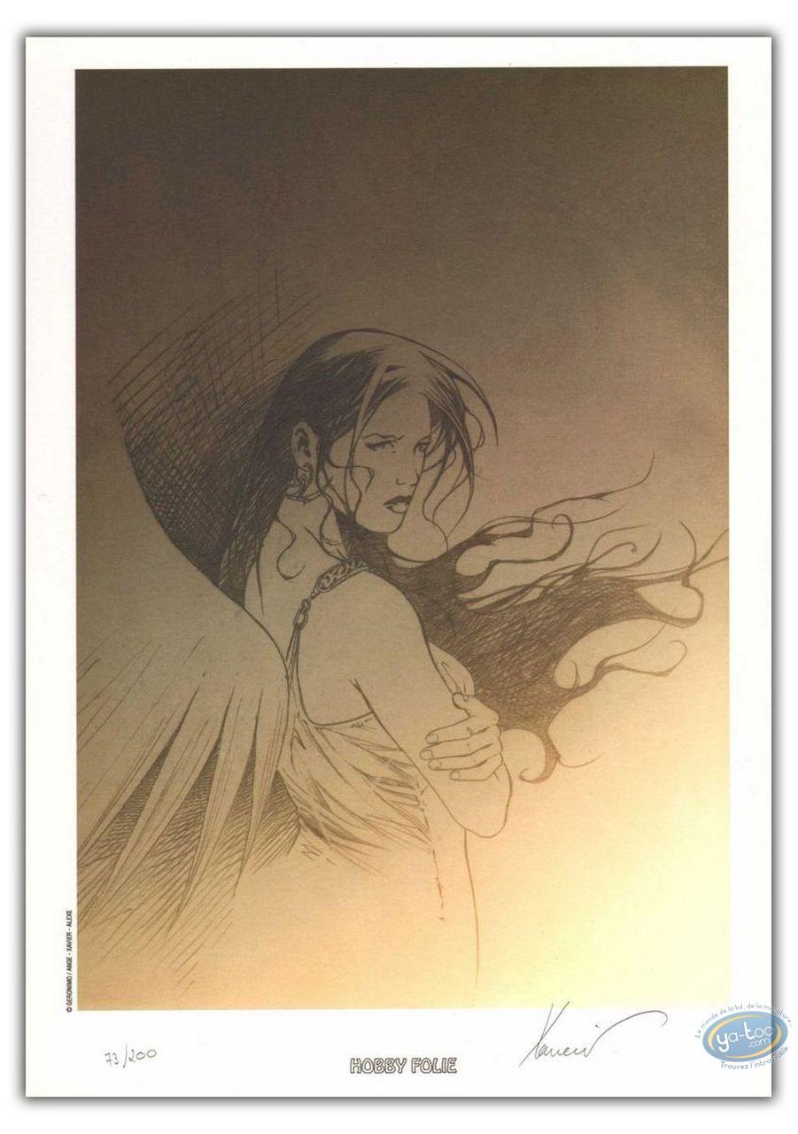 Bookplate Offset, Paradis Perdu : Angel (sketch)
