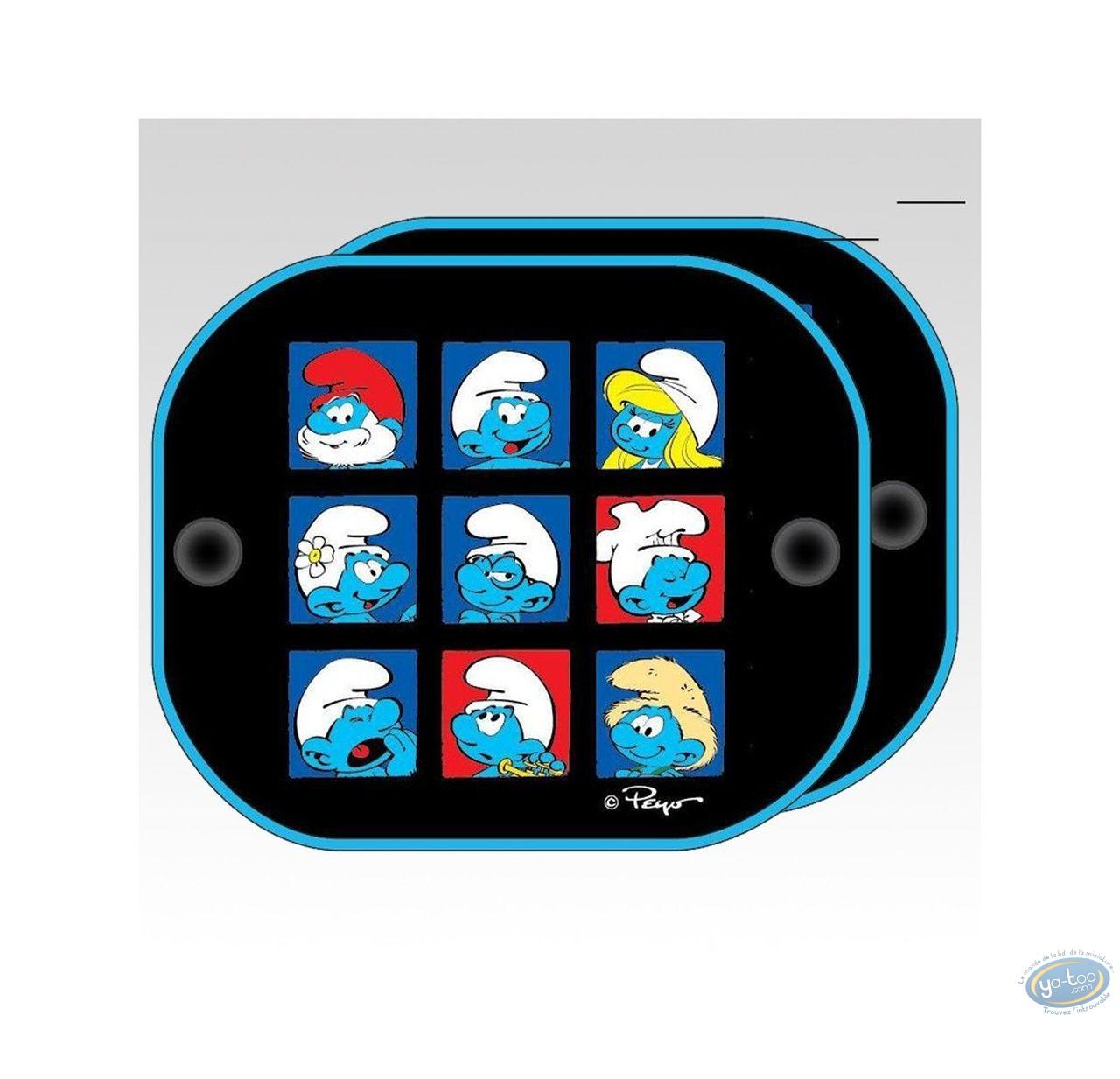 Auto accessory, Smurfs (The) : 2 sides sun visor, The Smurfs