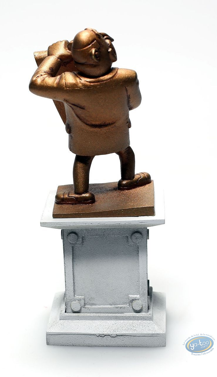 Metal Figurine, Spirou and Fantasio : Champignac Mayor's statue