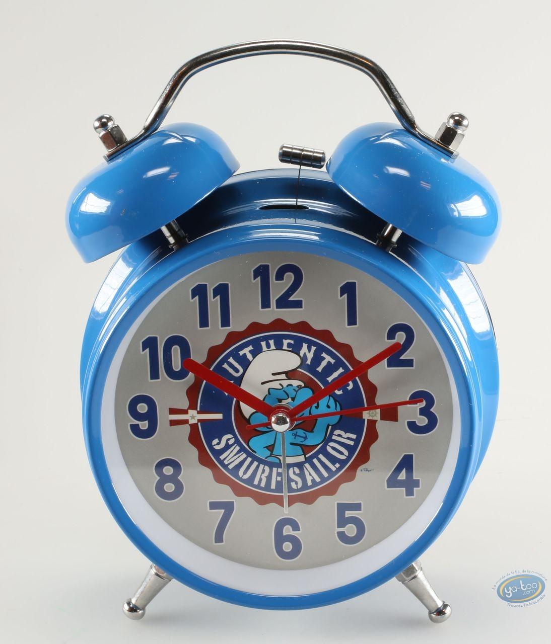 Clocks & Watches, Smurfs (The) : Alarm clock, Sailor Smurf Luminous Bleue
