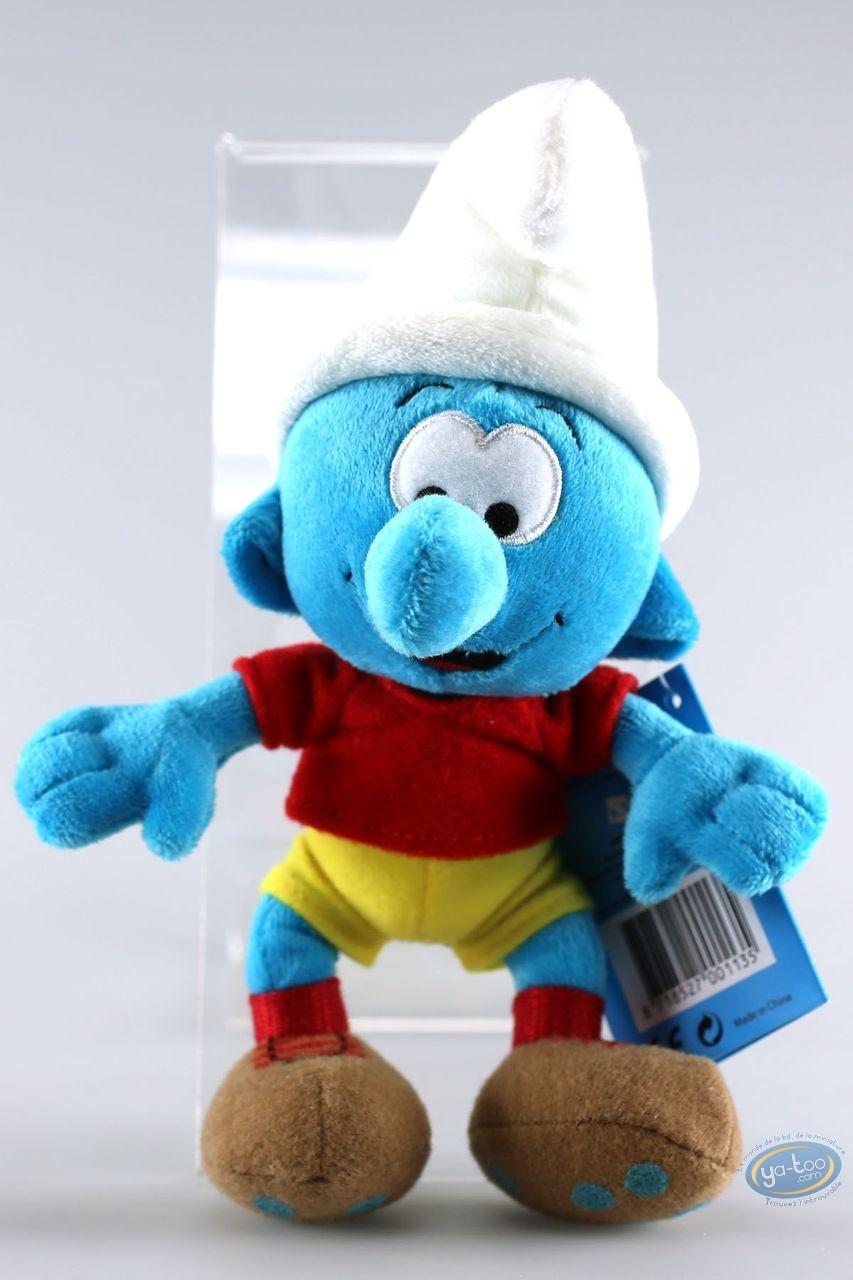 Plush, Smurfs (The) : Smurf footballer 20 cm