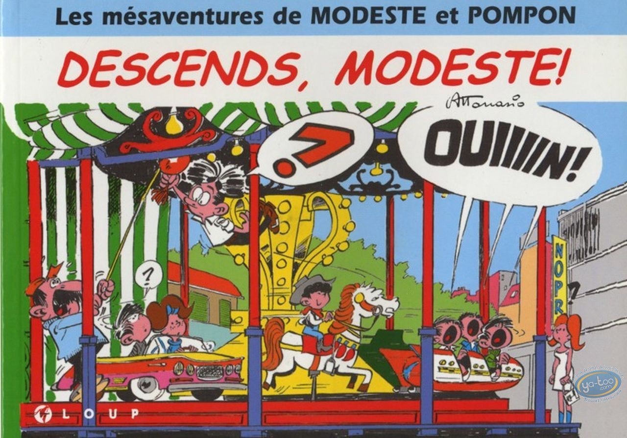 Reduced price European comic books, Modeste et Pompon : Descends, Modeste