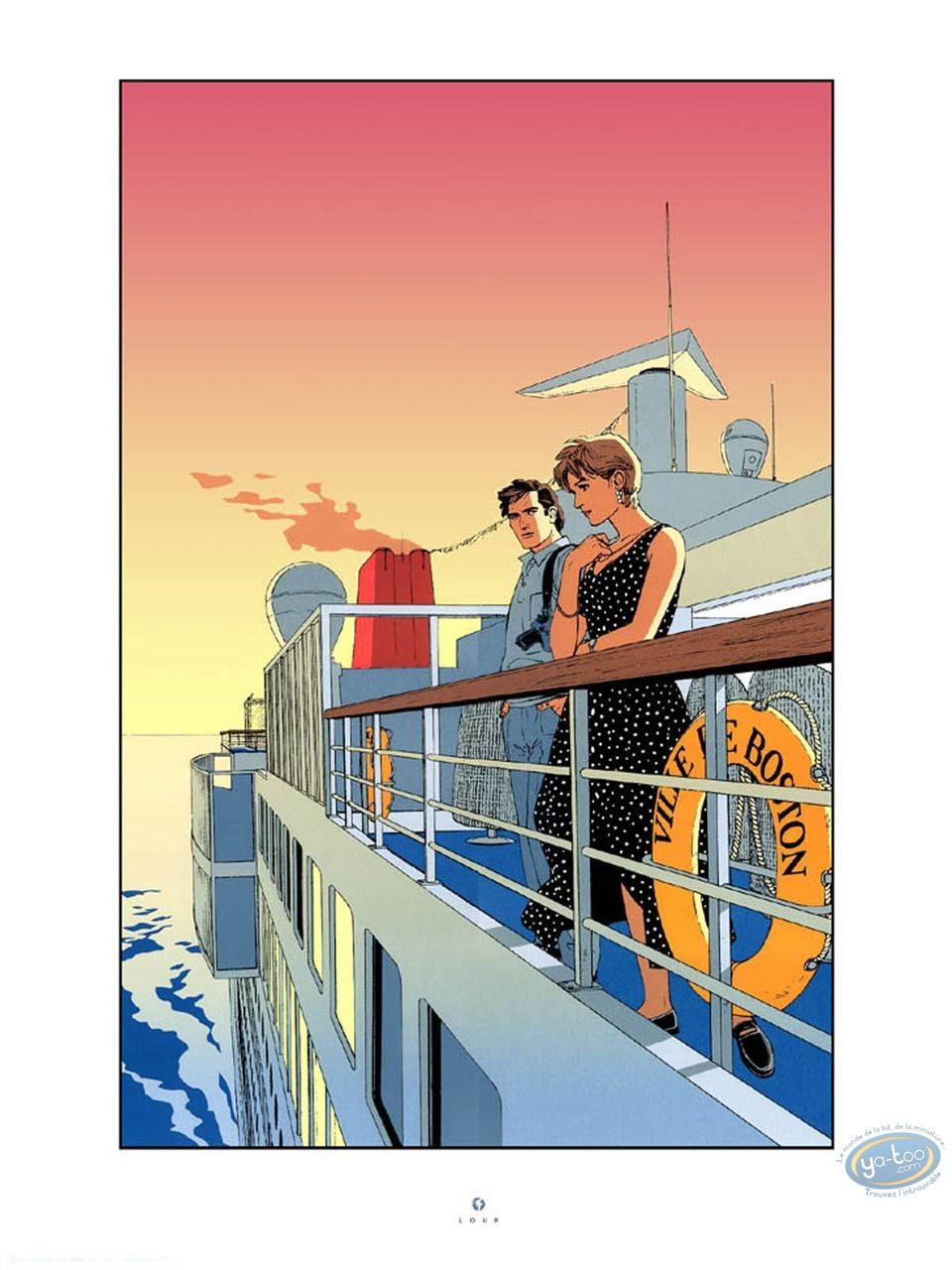 Serigraph Print, Alpha : Alpha the boat