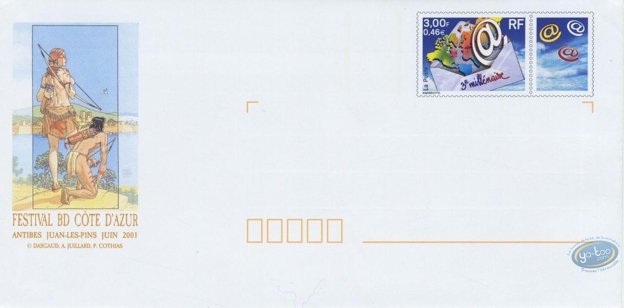 Stamp, Plume aux Vents : envelope 3eme Millenaire