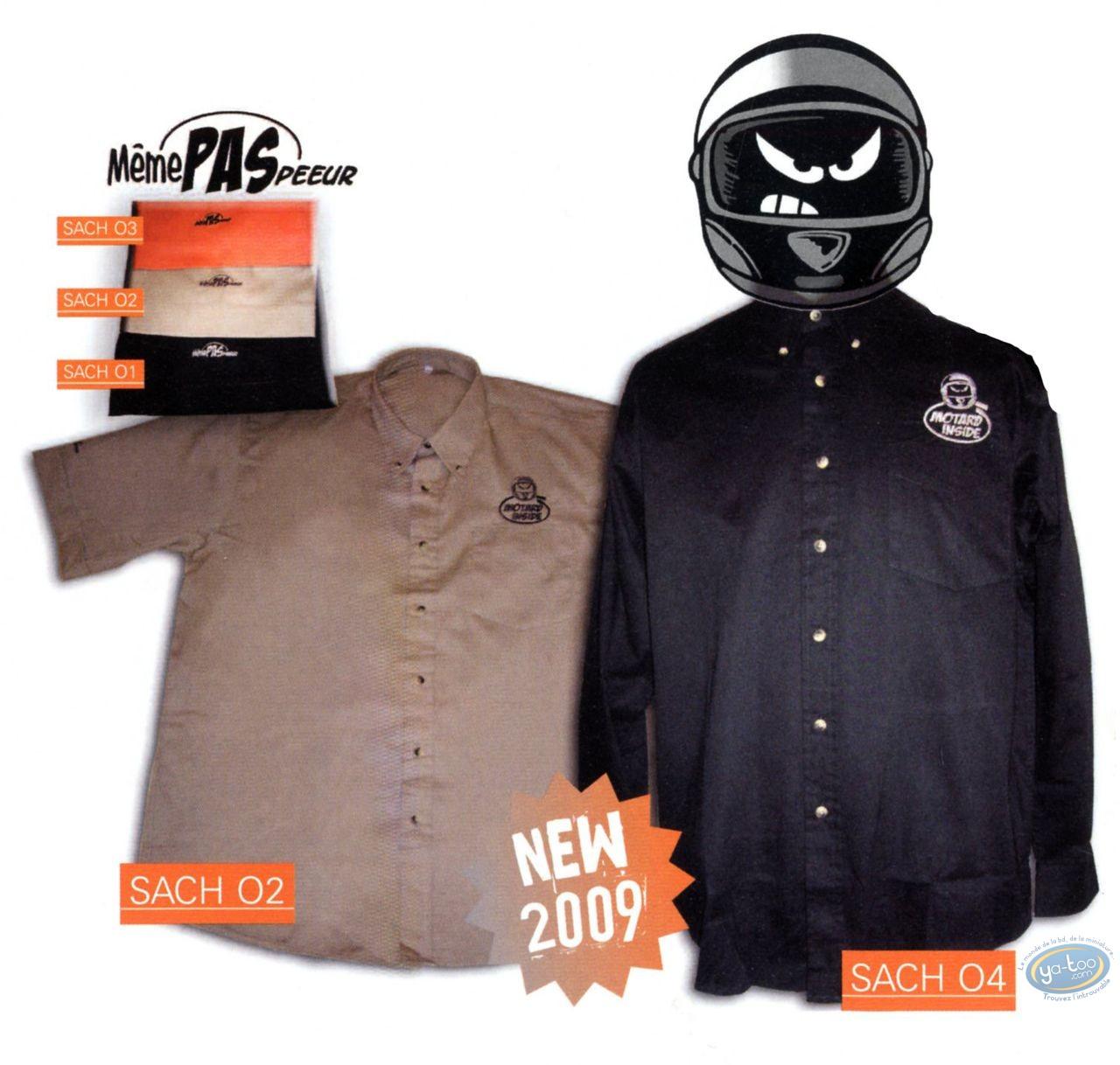 Clothes, Même pas Peeur : Shirt, black sleeves short size: L